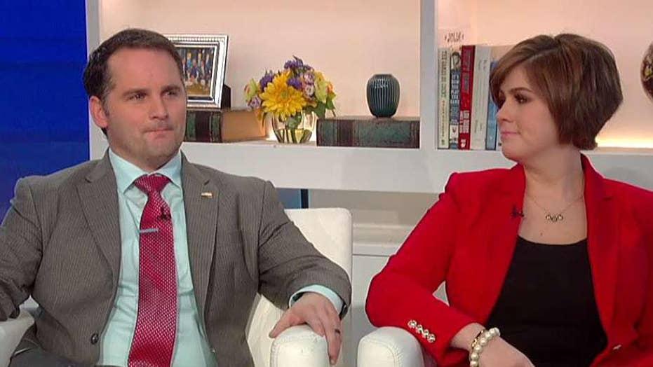 Army Major Mathew Golsteyn and wife Julie Golsteyn join Fox & Friends