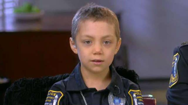 Brave 6-year-old battling cancer sworn in as honorary police officer