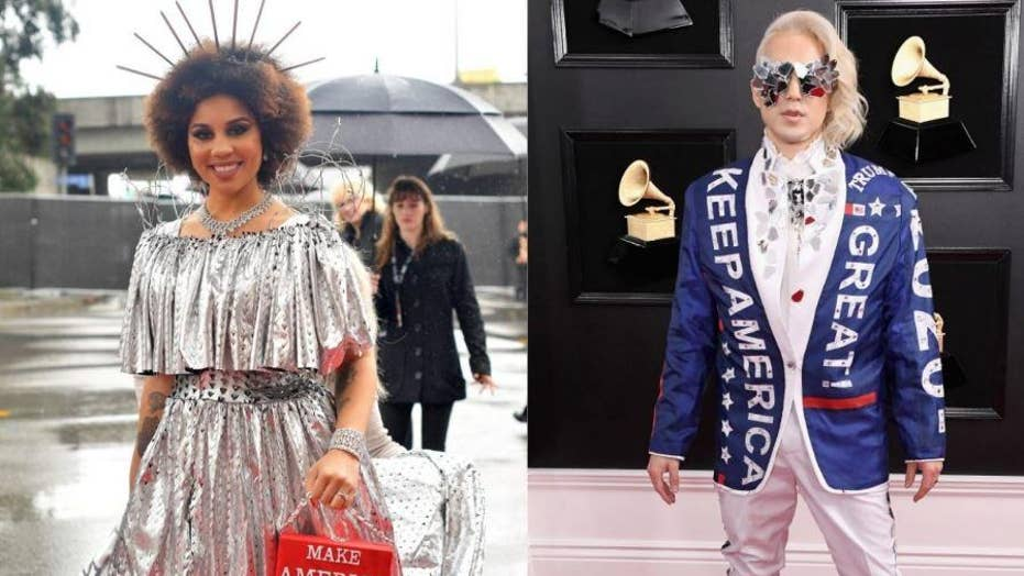 Pro-Trump MAGA merch spotted on the 2019 Grammys Red Carpet