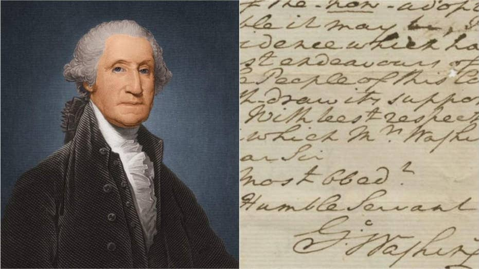 Image result for george washington letter on god and the constitution up for auction