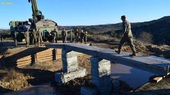 Marines at Camp Pendleton 3D-print a concrete bridge in 3 days