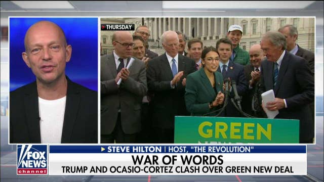 Steve Hilton sounds off on Alexandria Ocasio-Cortez's 'Green New Deal' thumbnail