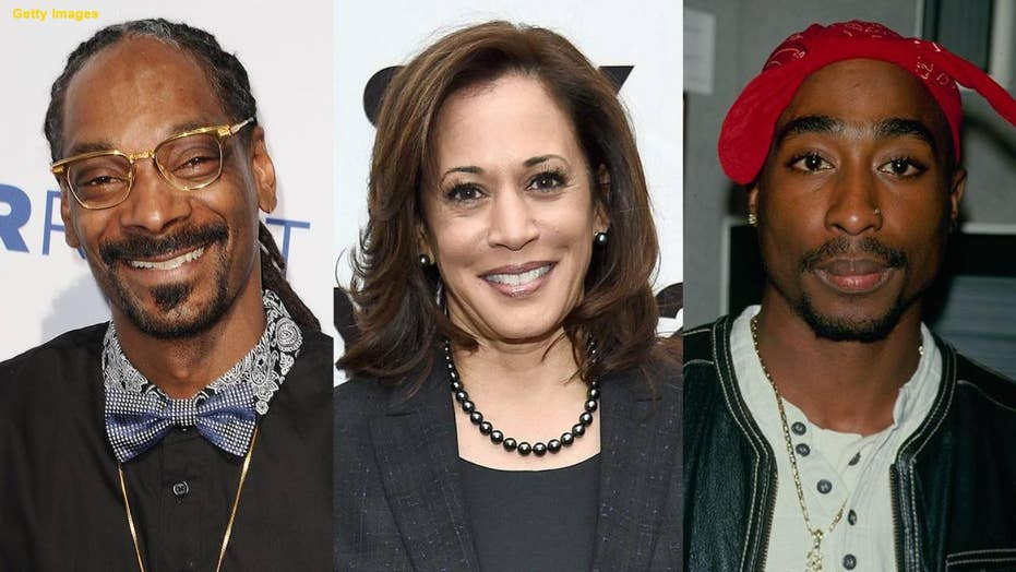 Kamala Harris says she listened to Snoop Dogg and Tupac in college, yet their albums came out after she graduated