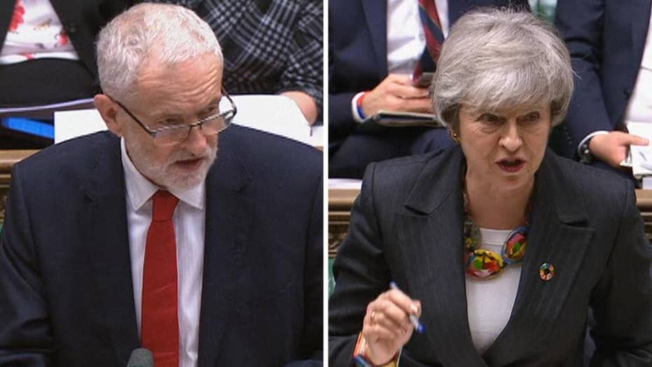 Corbyn accuses May of blackmail over 'deeply flawed' Brexit deal