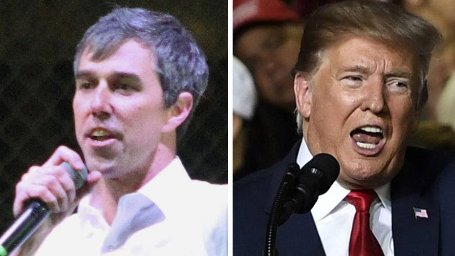 President Trump and Beto O'Rourke hold dueling rallies in El Paso, Texas