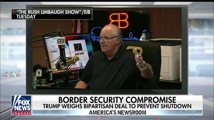 Trump will have to 'make the case' if he signs proposed border deal: Limbaugh