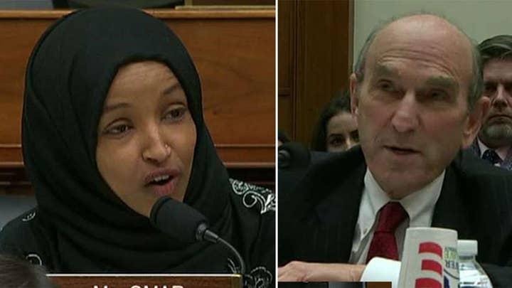 Rep. Omar, Venezuela Envoy Elliott Abrams spar at House hearing