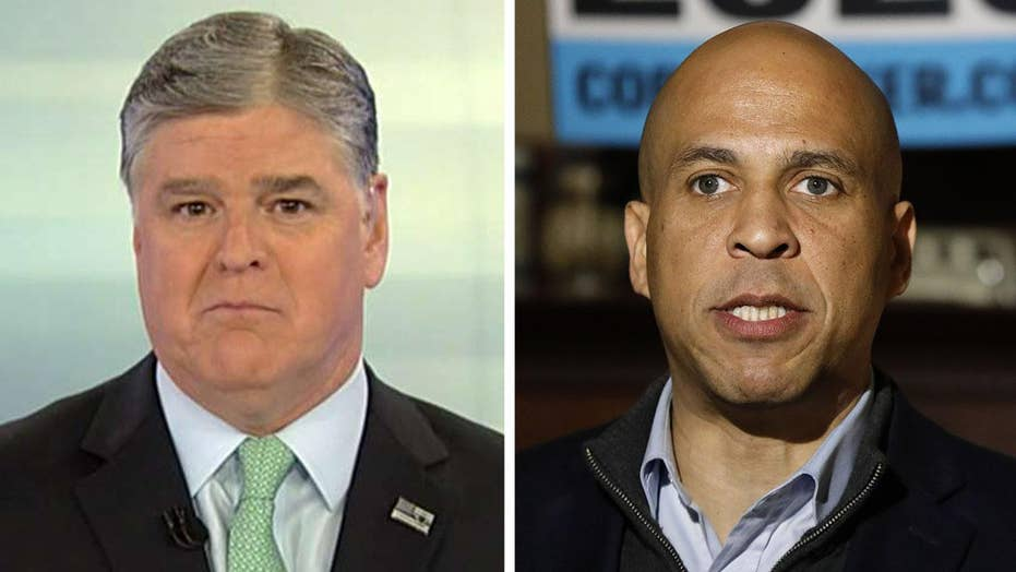 Hannity: Vegan Cory Booker warns world can't sustain eating meat