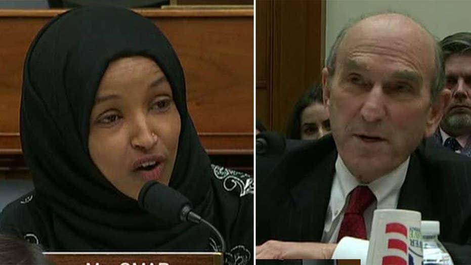 Rep. Ilhan Omar, Venezuela Envoy Elliott Abrams spar at House hearing