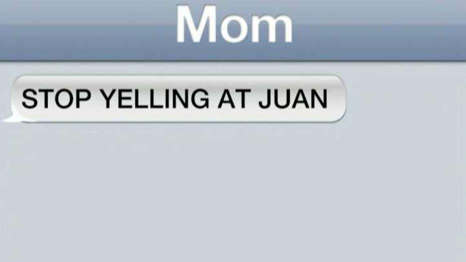 Jesse's mom tells him to stop yelling at Juan