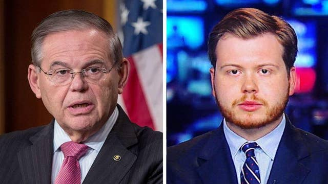 Senator Bob Menendez reportedly threatens to call police on Daily Caller reporter Henry Rodgers about the Green New Deal
