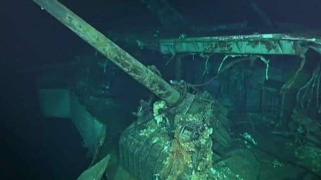 USS Hornet has been found on the floor of the South Pacific, 76 years after it was sunk by the Japanese