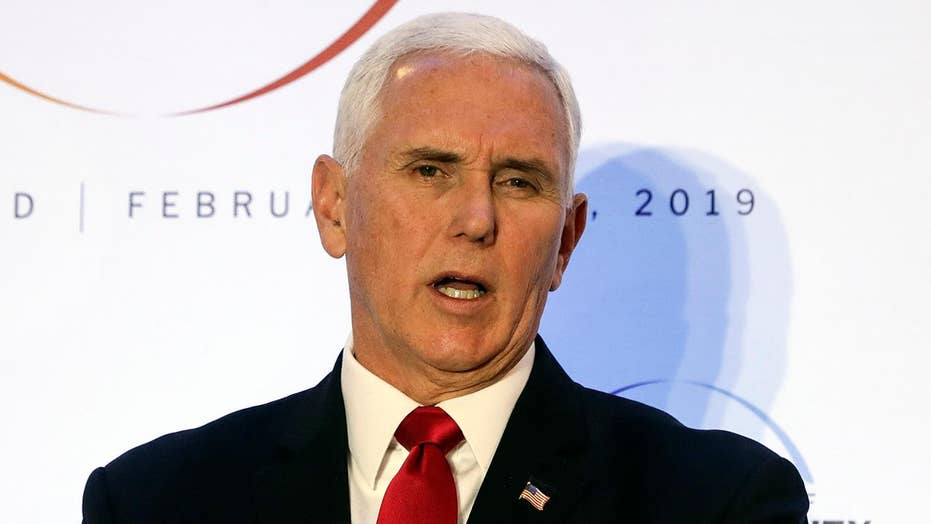 Vice President Pence urges Europe to withdraw from Iran nuclear deal