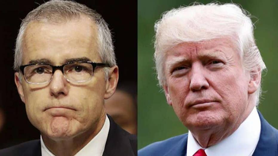 McCabe says he ordered Trump investigation after FBI Director Comey was fired