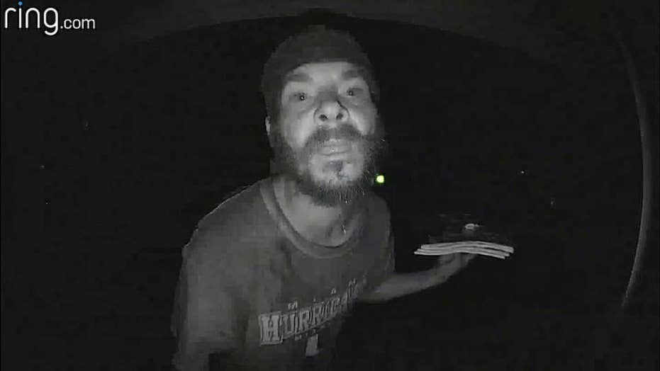 Raw video: Another man caught on camera licking a doorbell