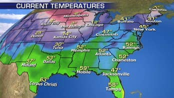 Icing expected to be a concern from the Midwest to the Southeast