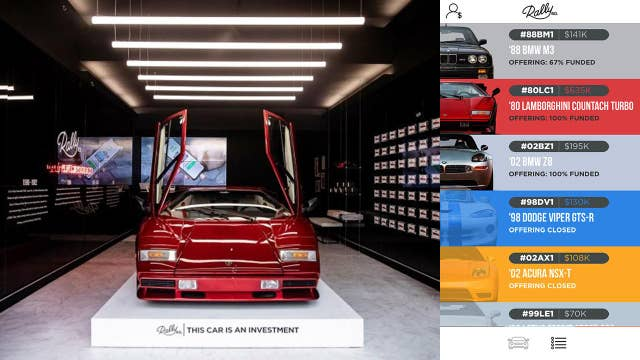 Rally Rd. app lets you invest in collector cars like stocks.
