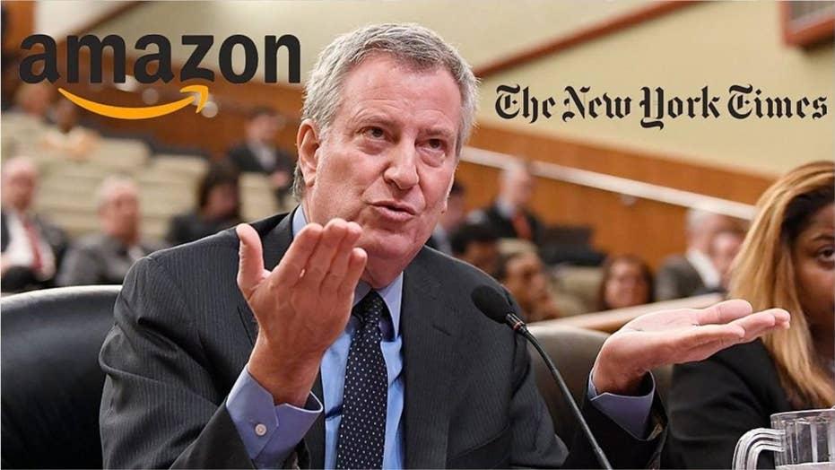 New York Times Editorial Board mocks De Blasio, blasts Democratic leaders over Amazon debacle