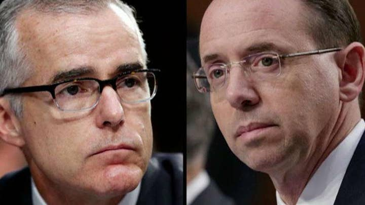 Top Republicans on Judiciary Committees call for McCabe and Rosenstein to testify
