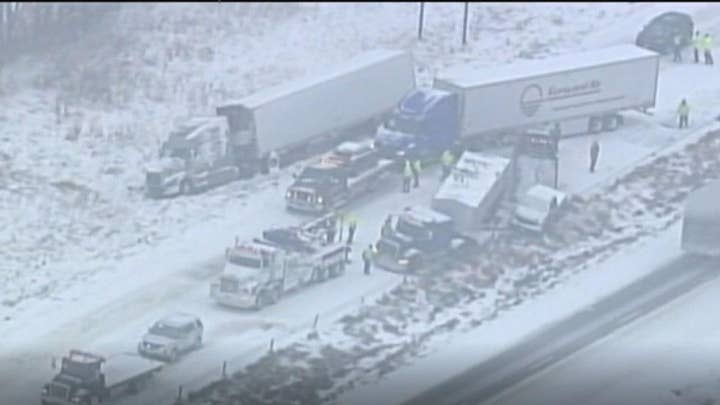 Icy Missouri highway leaves one dead in 47-car pile-up