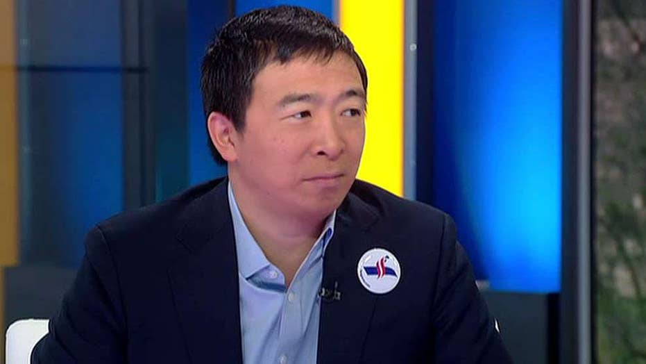 Presidential candidate Andrew Yang wants to give every adult $1,000 a month