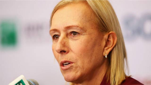 Former tennis champ Martina Navratilova criticized for comments about trans athletes
