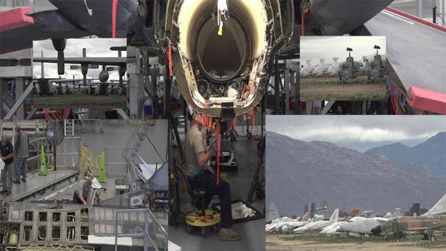 Boneyard stores, recycles, refurbishes military planes