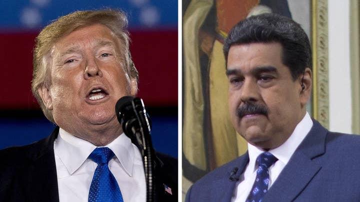 Trump pushes for end of Maduro regime in Venezuela