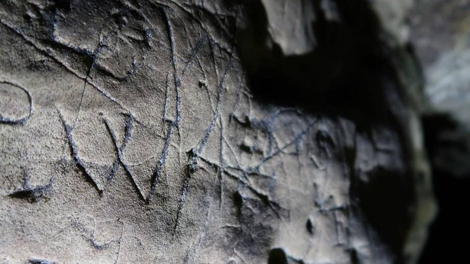 Mysterious 'witches marks' discovered in ancient cave in Creswell Crags, England