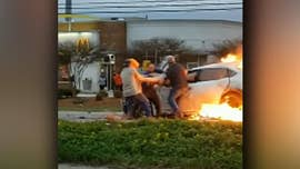 Good Samaritans rescue woman from burning car in Louisiana