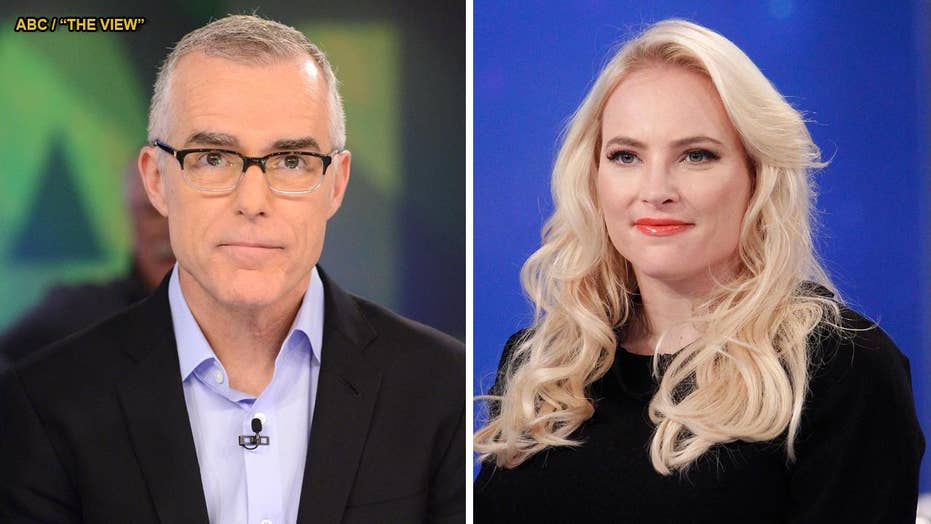 Meghan McCain stuns Andrew McCabe on 'The View' with uncomfortable question