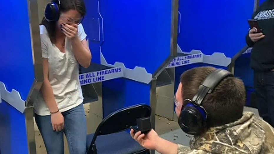 Bullseye: Man proposes to his girlfriend at New Jersey shooting range