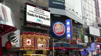Conservative group buys Times Square billboard bashing Alexandria Ocasio-Cortez over Amazon NYC pullout