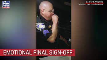 Virginia cop and Marine gives final emotional sign-off from the force
