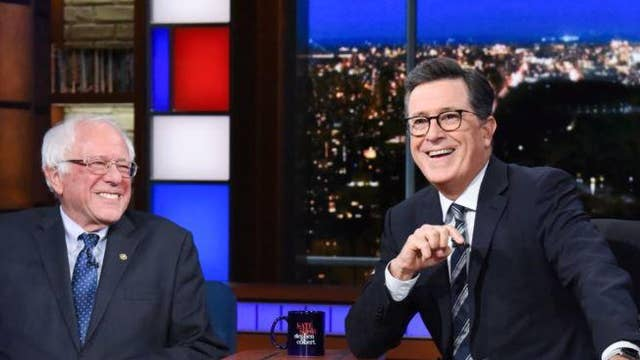 Stephen Colbert jokes about Vermont Senator Bernie Sanders officially joining the 2020 field