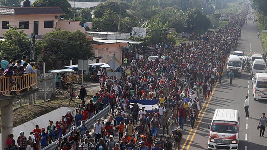 New migrant caravan making its way to the US