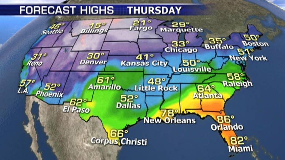 National forecast for Thursday, February 21