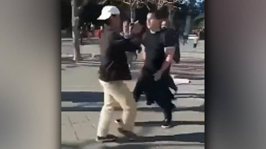 Video shows attack on conservative activist on UC Berkeley campus