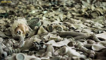 Haunting photos show dozens of gas masks littering Chernobyl as nature reclaims nuclear plant blast site