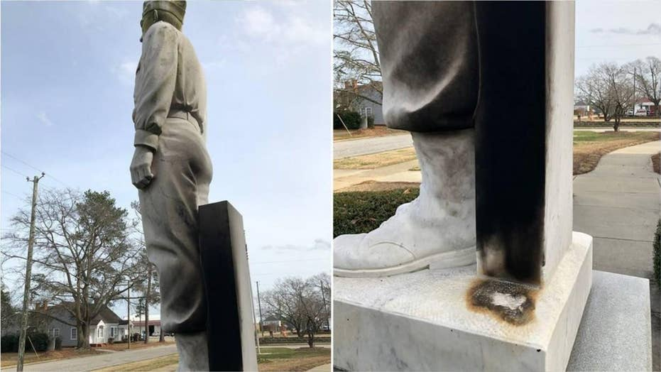 Statue vandals seem to have mistaken WWII hero for Confederate Gen. Robert E. Lee, museum officials say