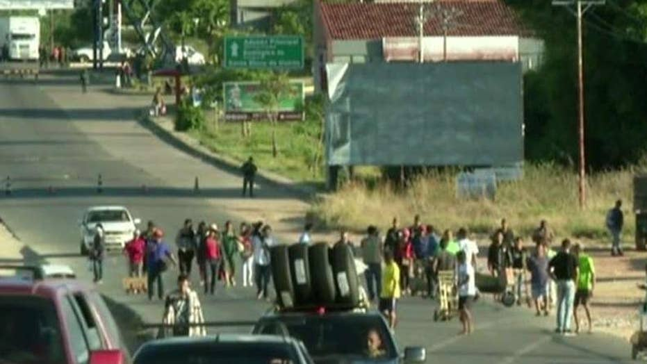 Venezuela facing new unrest after Maduro closes border with Brazil.