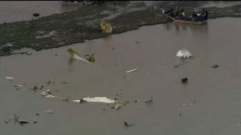 Raw aerial footage: Aftermath of cargo plane crash in Texas