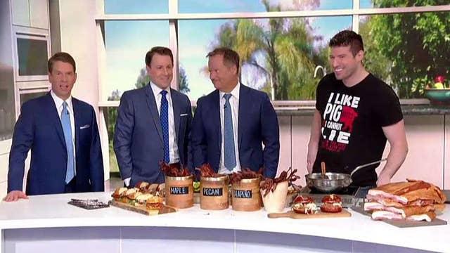 Chef Peter Sherman teaches 'Fox & Friends' some fun new bacon recipes