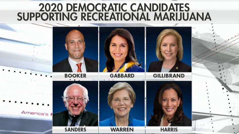Will 2020 Democratic presidential hopefuls make legalizing recreational marijuana part of their platform?