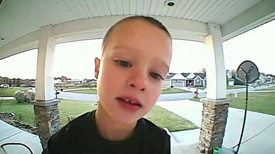 Boy uses Ring doorbell camera to ask dad how to work TV