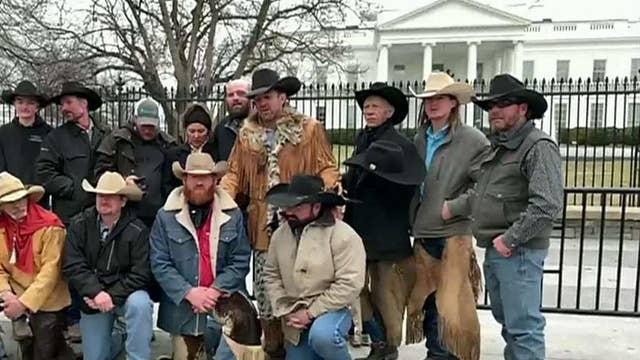 Cowboys for Trump ride through Washington to support the president's agenda