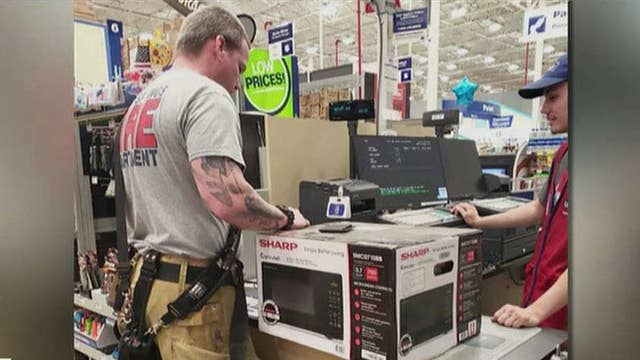 Firefighters buy an elderly woman a microwave so she can heat up her frozen meals thumbnail