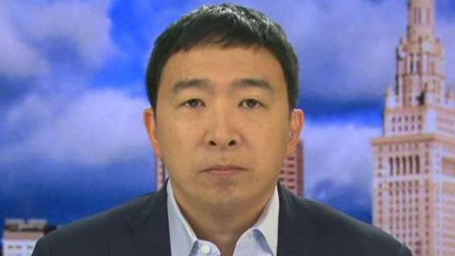 Democratic presidential candidate Andrew Yang says universal basic income isn't a socialist policy