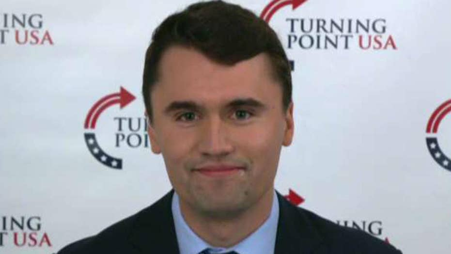 Charlie Kirk on the continuing fight over President Trump's border wall
