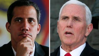 Pence meeting with Venezuelan opposition leader Guaido after weekend of violence